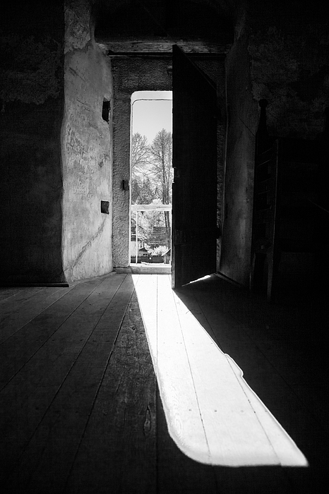 Architecture Photograph - Open Door by Gabriela Insuratelu