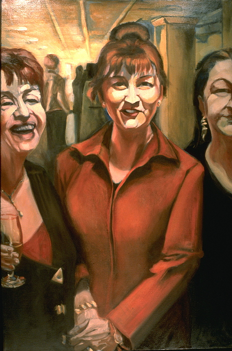 Portrait Painting - Opening Reception-o by Patricia Reed