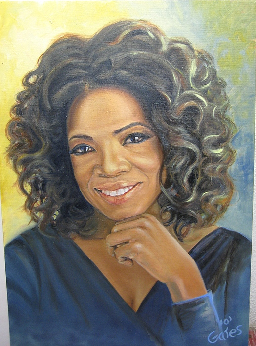 Oprah Painting - Oprah Queen Of Day Time Tv by Todd  Gates