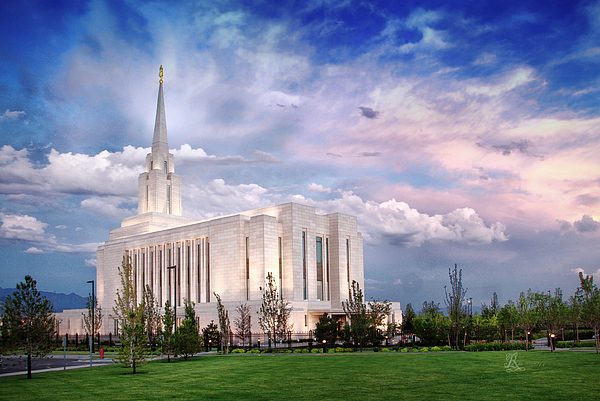 Utah Photograph - Oquirrh Mt Temple by La Rae  Roberts