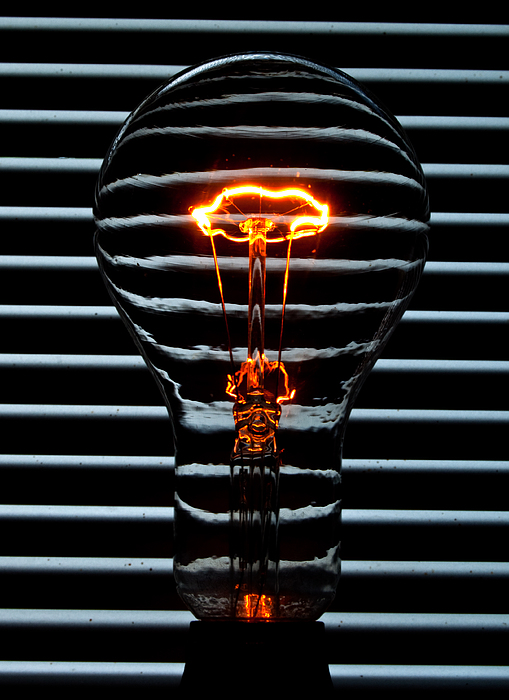 Orange Photograph - Orange Bulb by Rob Hawkins