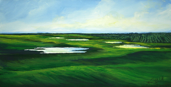 Fairway Painting - Orange County Fairway by Michele Hollister - for Nancy Asbell