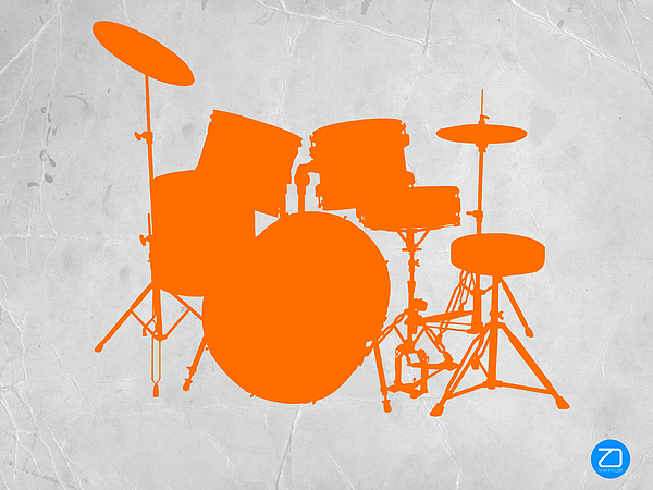 Drums Photograph - Orange Drum Set by Naxart Studio