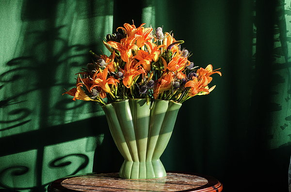 Orange Photograph - Orange Lilies In June by Wendy Blomseth
