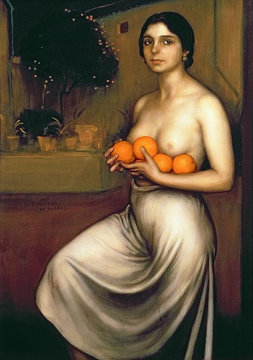 Oranges Painting - Oranges And Lemons by Julio Romero de Torres