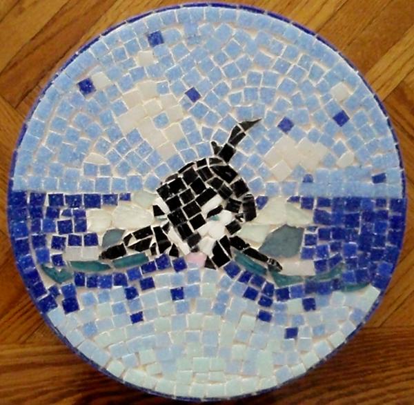 Orca Glass Art - Orca Mosiac by Jamie Frier
