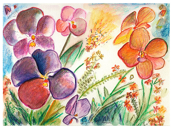 Orchids Painting - Orchid No. 12 by Julie Richman