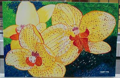 Paintings Painting - Orchid1 by Marilena Pilla