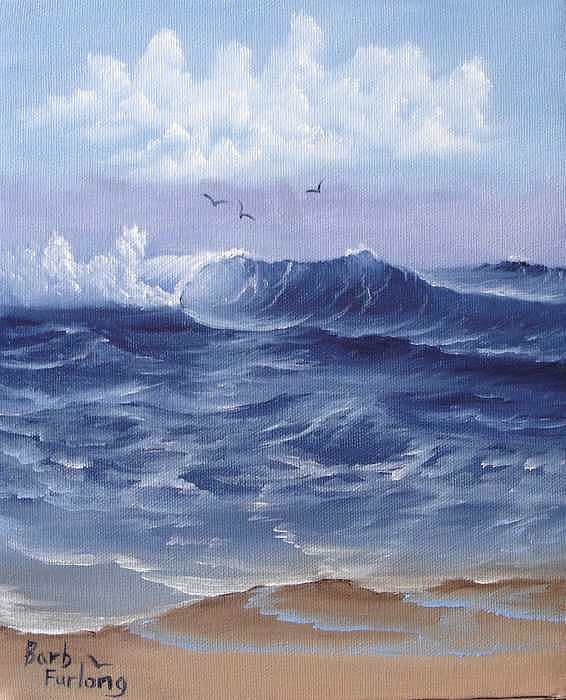 Seascape Painting - Oregon Coast Oil Painting by Barbara Furlong