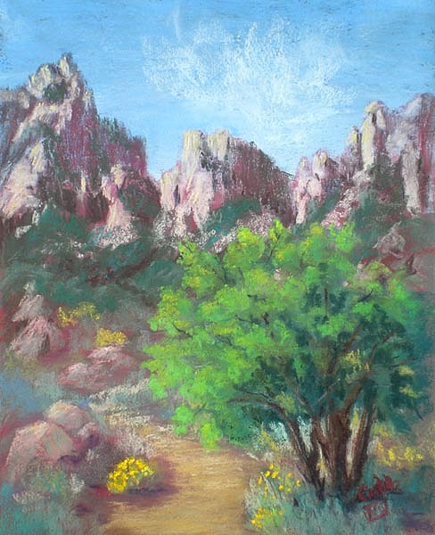 Landscape Painting - Organ Mountains by Jo Castillo