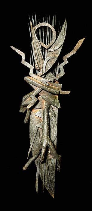 Sculpture Mixed Media - Organic Electric by John Casper