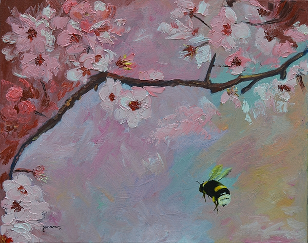 Floral Painting - Oriental Cherry by Sue Furrow