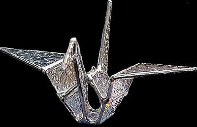 Origami Glass Crane Glass Art by Karen Ichino