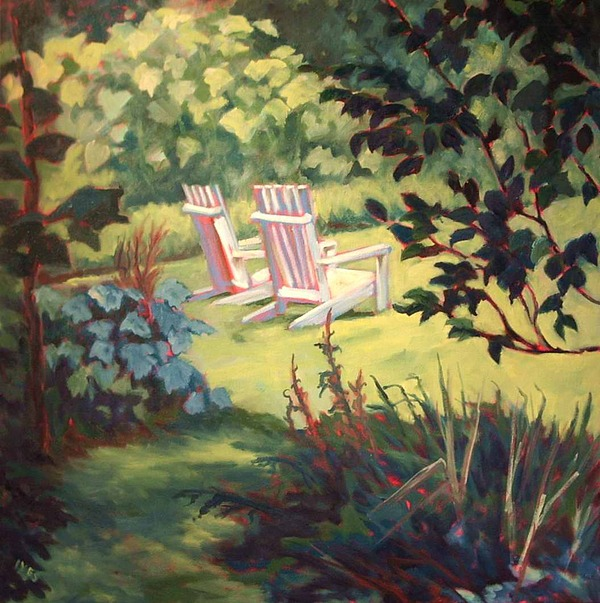 Chairs Painting - Orwell Corner by Jean Ives
