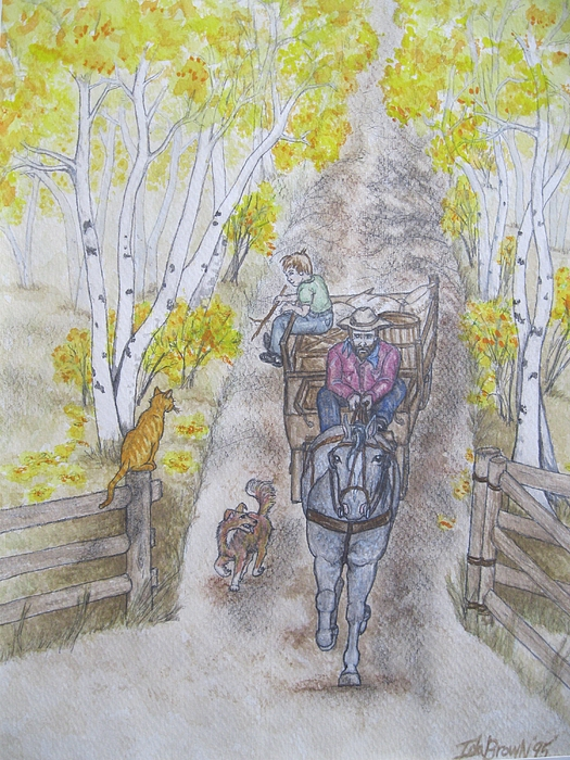 Watercolor Painting Painting - Oscar The Cat Welcomes Them Home by Ida Brown