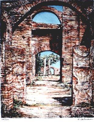 Rome Print - Ostia Antica by Richard Bulman