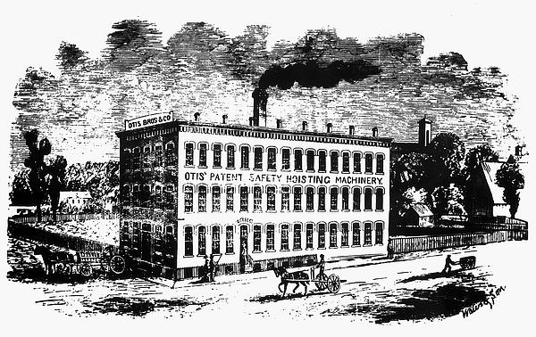 1870 Photograph - Otis Elevator Factory by Granger