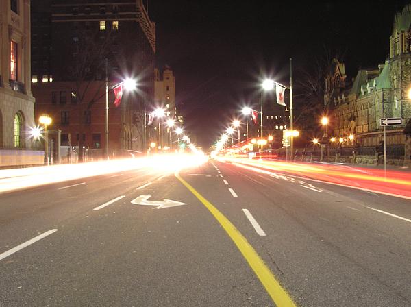 Street Photograph - Ottawa Street At Night by Richard Mitchell