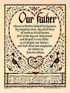Scripture Painting - Our Father by Ceci Good