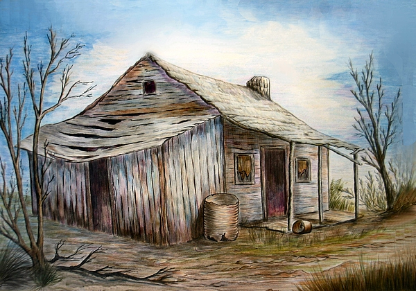 Building Painting - Our House by Sue Ireland