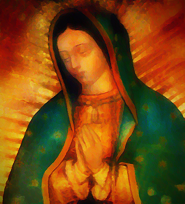 Virgin Digital Art - Our Lady Of Guadalupe by Bill Cannon