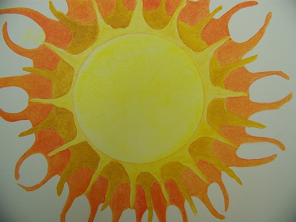 Sun Painting - Our Sun by Ida Hes