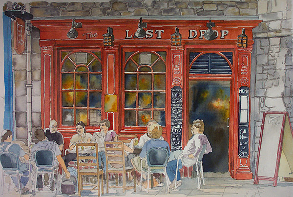 Pub Painting - Out For A Pint by Victoria Heryet