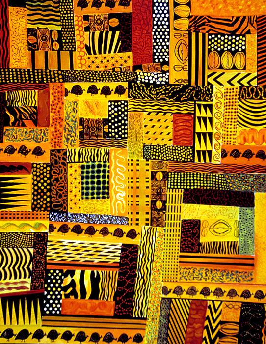 Quilt Pattern Painting - Out Of Africa by JoeRay Kelley