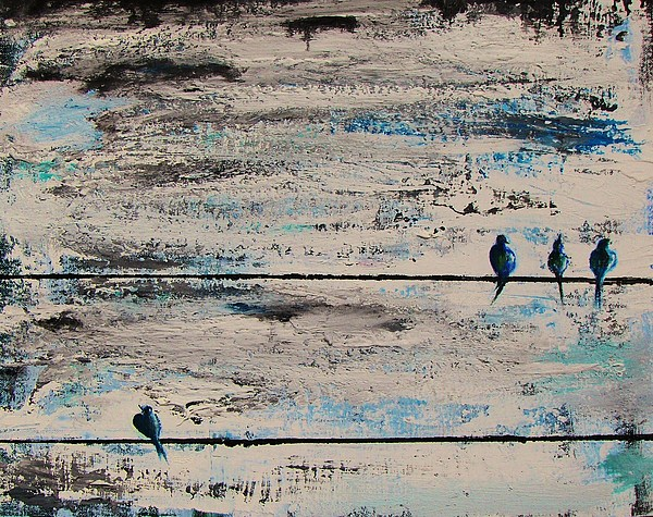 Birds Painting - Outcast by Steffen  Anderson