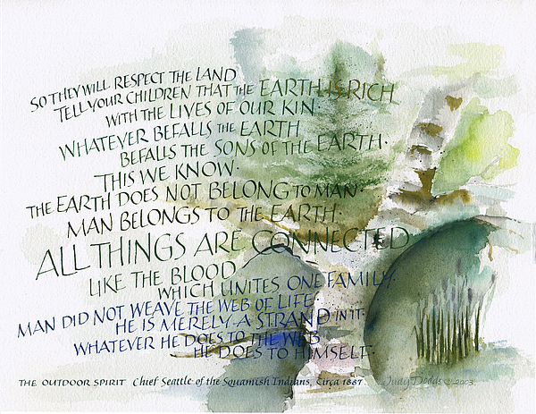 Chief Seattle Painting - Outdoor Spirit by Judy Dodds