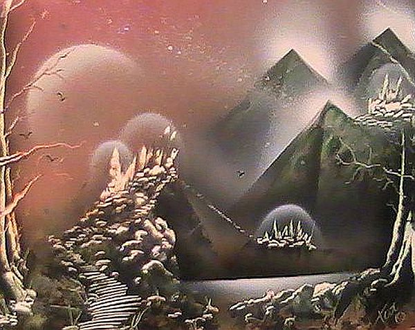 Spray Paint Painting - Outer Limits by My Imagination Gallery