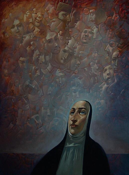 Portrait Painting - Outlander by Faizulla Khamraev