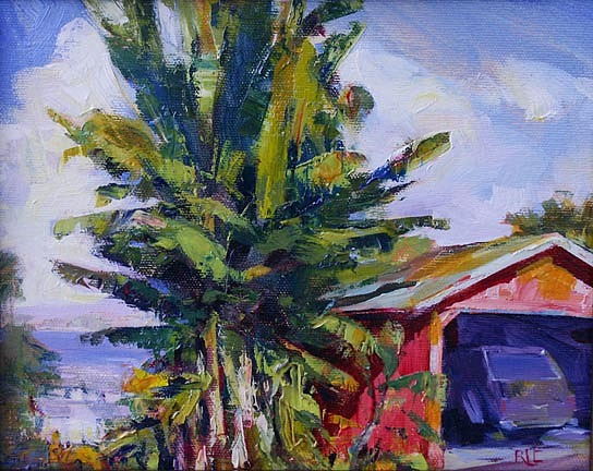 Landscape Painting - Over Hilo by Rod Cameron
