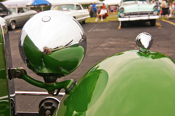 Antique Car Photograph - Over My Shoulder 2042 by Guy Whiteley