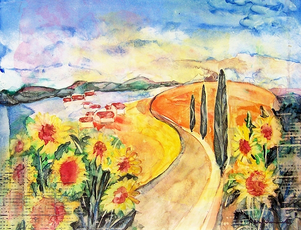 Tuscany Painting - Over The Tuscan Hills by Regina Ammerman