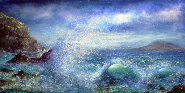 Sea Painting - Over The Waves by Ann Marie Bone