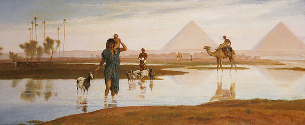 Orient Painting - Overflow Of The Nile by Frederick Goodall