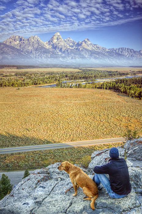 Jackson Hole Photograph - Overlooking The Grand Tetons Jackson Hole by Dustin K Ryan