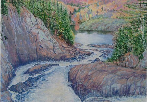 Landscape Painting - Oxtounge River by Yvette Miller