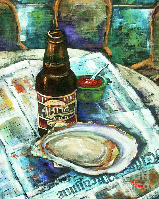 Oyster Painting - Oyster And Amber by Dianne Parks