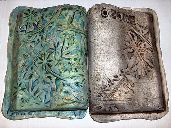 Ceramic Mixed Media - Ozone by Gayla Lemke