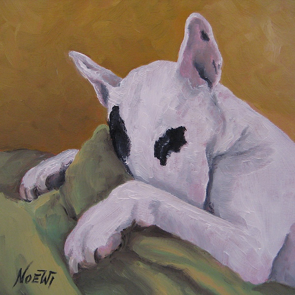 Dog Painting - Ozzi by Jindra Noewi