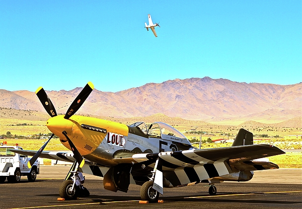 Airplane Photograph - P51 Mustangs Lou Iv And Strega 2010 Reno Air Races by Gus McCrea