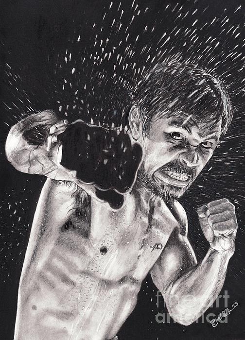 Manny Pacquiao Drawing - Pac-man by Joshua Navarra
