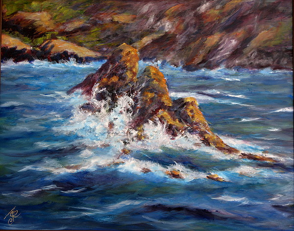 Sea Coast Painting - Pacific Coast by Thomas Restifo