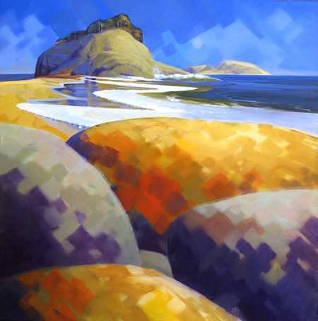 Beach Painting - Pacifica - I by Ken Campbell