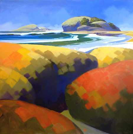 Beach Painting - Pacifica - II by Ken Campbell