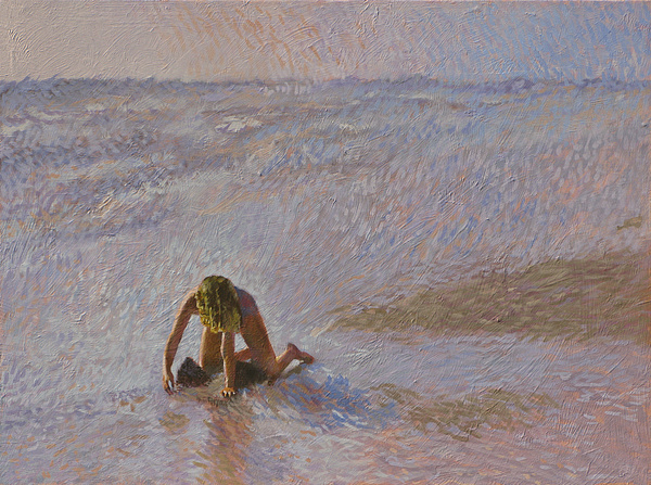 Beach Painting - Padre Girl by Robert Bissett