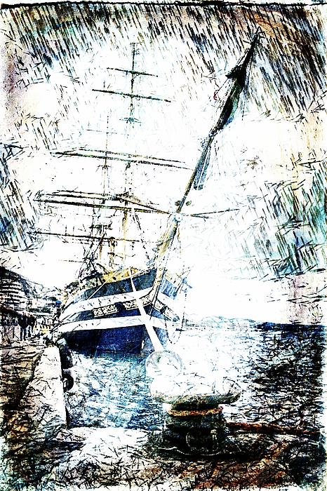 Cadet Digital Art - Painted Amerigo Vespucci by Andrea Barbieri