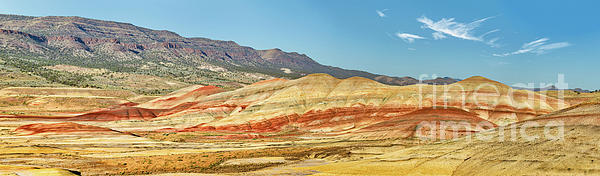 Arid Photograph - Painted Hills Pano 2 by Jerry Fornarotto